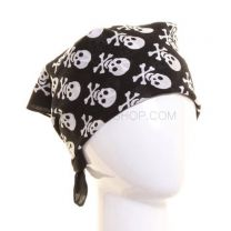 Black Round Skull Heads Bandana