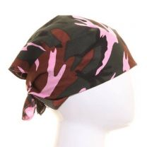 Multicoloured Pink Camouflage Bandana