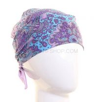 Lilac Royal Paisley Bandana
