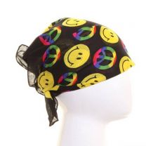 Smiley & Peace Printed Bandana