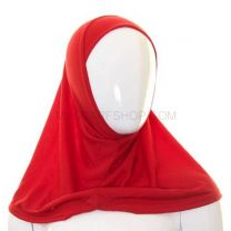 Kids 1 Piece Al Amira Hijab (Red Plain)