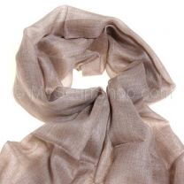 Taupe Raw Edge Cashmere Shawl