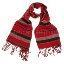 Red Striped Winter Scarf
