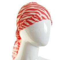 Red Zebra Print Scarf Headband