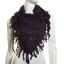 Purple Animal Print Triangle Scarf
