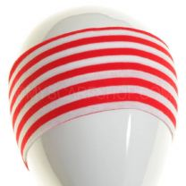 Red & White Stripes Wide Headband