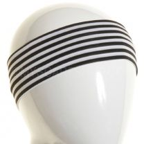 White & Black Stripes Slim Headband