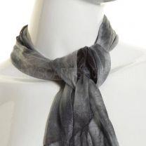 Grey Tie Dye Chiffon Scarf