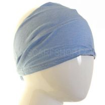 Pale Blue Cotton Under Scarf Headband (Egyptian Bonnet)