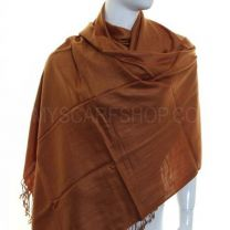Brown Plain Pashmina