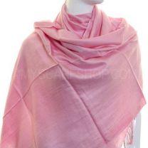 Pink Plain Pashmina