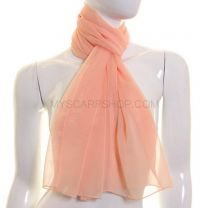 Peach Simple Chiffon Scarf