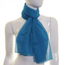 Turquoise Simple Chiffon Scarf