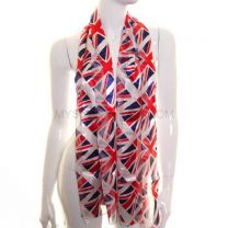 Union Jack Multi Flags Satin Stripe Neck Scarf