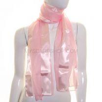 Pink Satin Stripe Scarf