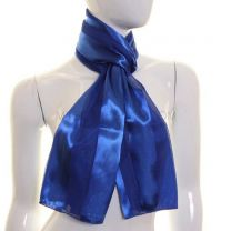Royal Blue Satin Stripe Scarf