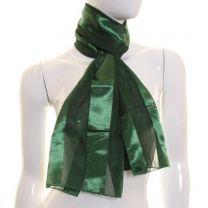Dark Green Satin Stripe Scarf