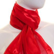 Red Satin Stripe Scarf
