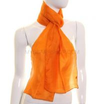 Orange Silk Neck Scarf