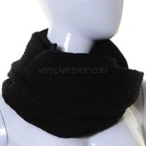 Black Lurex Knitted Snood