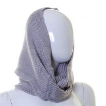Silver Lurex Knitted Snood