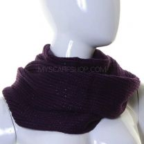 Purple Lurex Knitted Snood