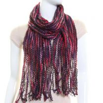 Purple Multi Stripe Winter Scarf