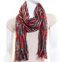Red Multi Stripe Winter Scarf