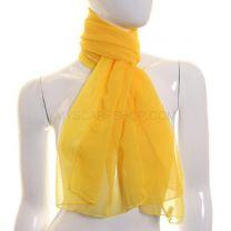 Mustard Yellow Chiffon Scarf