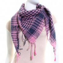 Navy & Pink Arab Scarf (Shemagh)