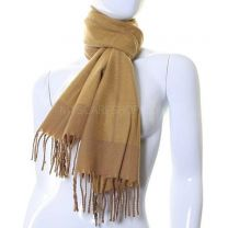 Desert Stripes Wool Mix Winter Scarf