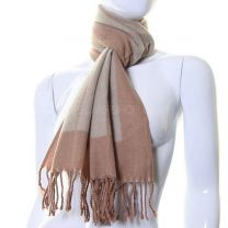 Desert Sand Stripes Wool Mix Winter Scarf