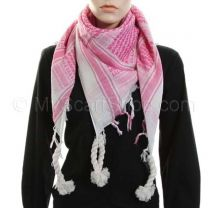 Pink Arab Scarf (Shemagh)