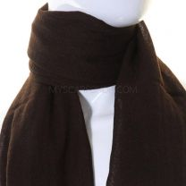 Plain Wool Pashmina (Dark Brown)