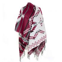 Reversible Large Burgundy Poncho