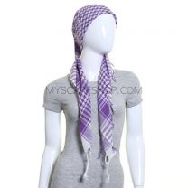 Purple and White Arab Scarf (Shemagh)