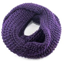 Plum Chunky Knitted Snood