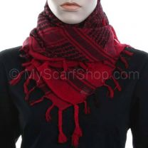 Red and Black Arab Scarf - Shemagh