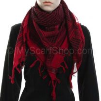 Red and Black Arab Scarf (Shemagh)