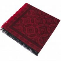 Red Paisley Square Pashmina