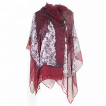 Red Floral Pashmina - Large