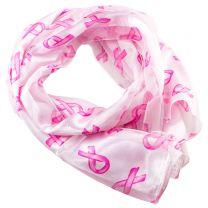 Pink Ribbon Chiffon Scarf