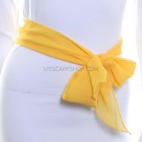3 in 1 Chiffon Sash Scarf (Yellow)