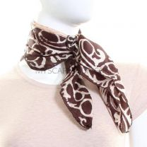 Cream Batik Square Silk Scarf