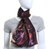 Satin Stripe Scarf