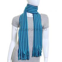 Blue Stripe Winter Scarf