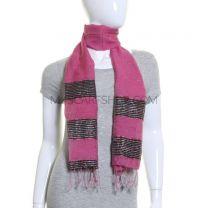 Pink Stripe Scarf