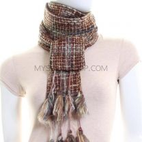 Brown Tweed Neck Scarf (Reversible)