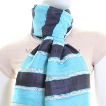 Blue Stripes Lightweight Scarf