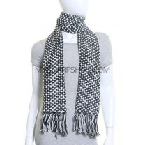 Black and White Winter Scarf